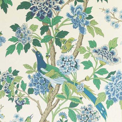 GP & J Baker Hydrangea Bird Behang
