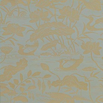 GP & J Baker Heron & Lotus Flower Behang
