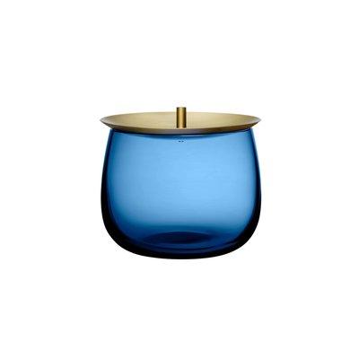Nude Beret Voorraadschaal S Kobaltblauw Messing