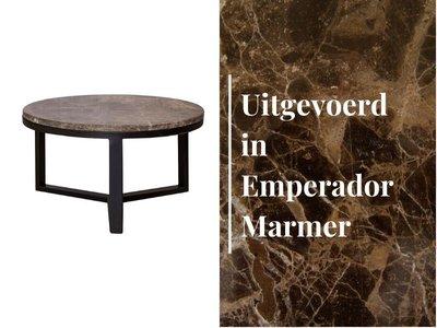Duran Lucena Koffietafel Emperador Marmer Ø60 cm H30 cm