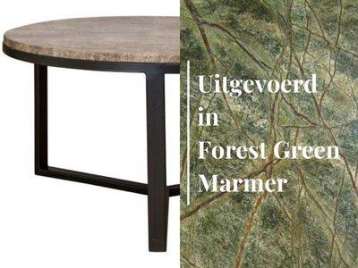 Duran Lucena Salontafel Forest Green Marmer Ø80 cm H40 cm