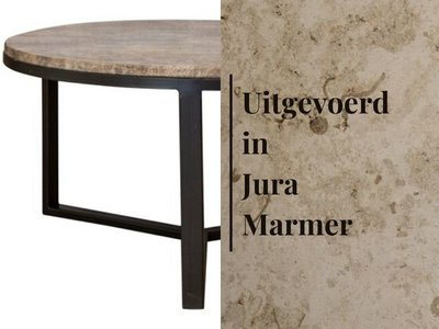 Duran Lucena Salontafel Ø80 cm Jura Marmer