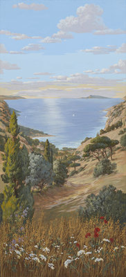 Pierre Frey Voyage en Toscane la Mer Behang