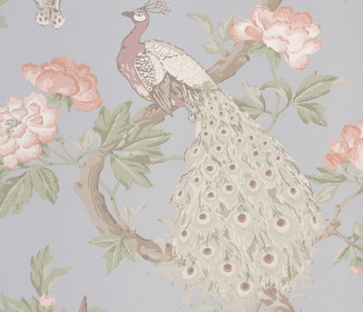 Little Greene Pavona Pearle Behang