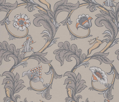 Little Greene Stag Trail Sterling Behang