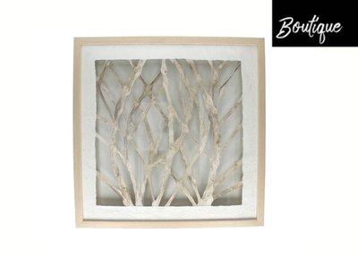 Muurdeco Branco Aluminium Naturel