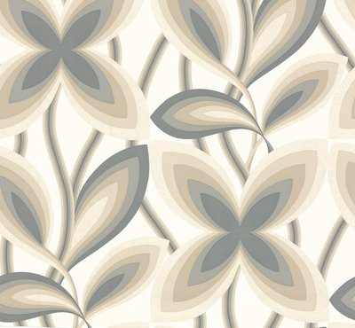 Little Greene Starflower behang - Platinum