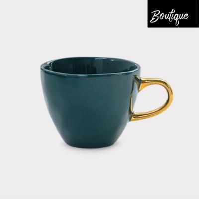 Good Morning, blauwgroen Koffie Kopje