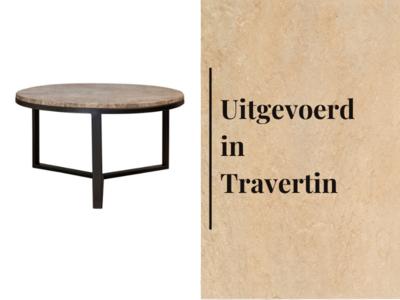 Duran Lucena Koffietafel Travertin Ø60 cm H30 cm