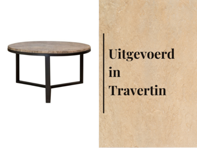 Duran Lucena Salontafel Travertin Ø80 cm H40 cm