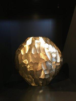 Geometrische Gouden Vaas - Medium