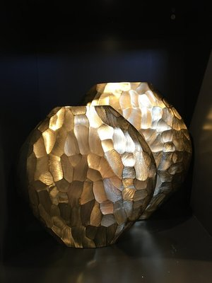 Geometrische Gouden Vaas - Groot