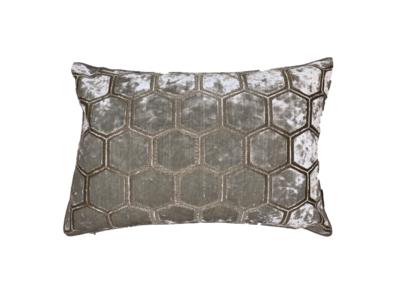 Luxury By Nature Sierkussen Stof Designers Quild Manipur Oyster 60 x 40 cm