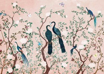 Coordonne Edo Pink Behang (Vinyl)
