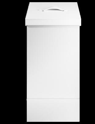 Witte Kunstlederen Wasmand Brownie Decor Walther WBW - Wit