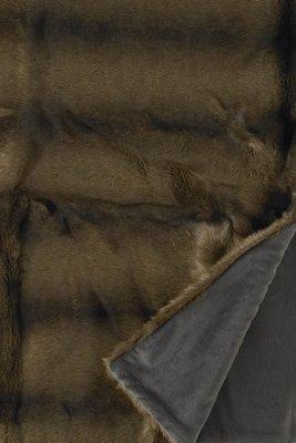 Nerts (Vison) Fake Fur Bontplaid Bruin