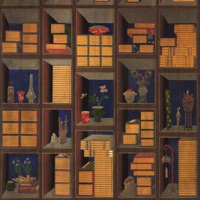 Mind the Gap Korean Library Behang - Chromo