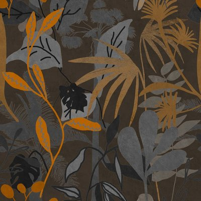 Mind the Gap Caribbean Garden Dark Behang