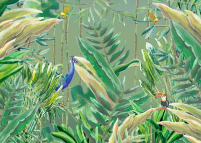 Catchii Jungle Forest Behang - Origineel