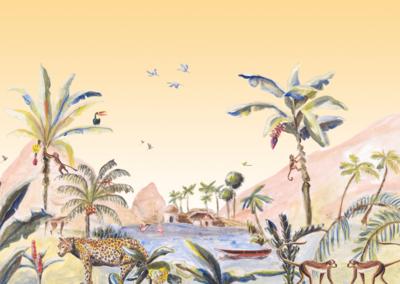 Catchii Jungle Landscape Behang - Origineel