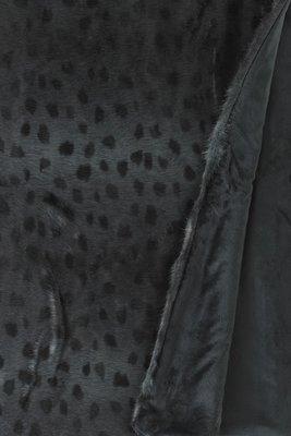 Zwarte Ocelot (Luipaard) Fake Fur Bontsprei