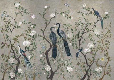 Coordonne Edo Silver Behang