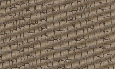 ARTE Croc Behang - Dark Bronze