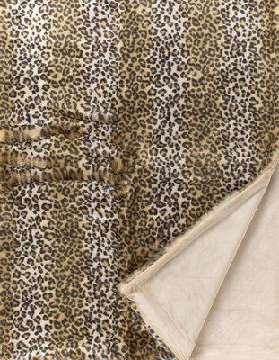 Leopard Fake Fur Bontplaid