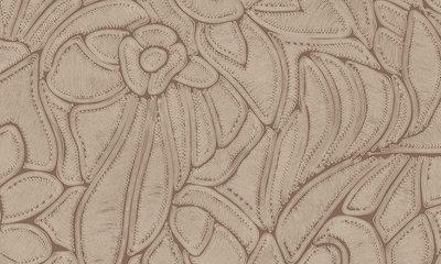 ARTE Flore Behang - Terracotta