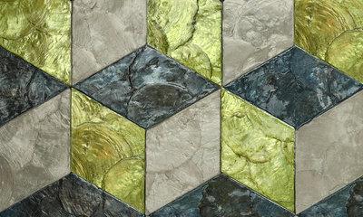 ARTE Cubic Behang - Ever Green
