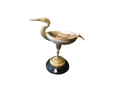 Luxe Decoratieve Vogel met Parelmoer Schelp Op Voet
