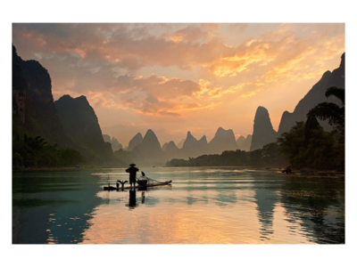 Fotoschilderij Li River