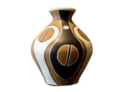 Luxe Terracotta Vaas/Kruik Met Patroon