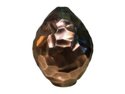 Hexagon Vaas Koper