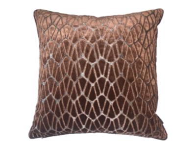 Luxury By Nature Sierkussen Stof Black Edition Rombo Copper 50 x 50 cm