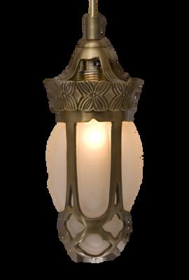 Mmono Jugendstil Bulb Hanglamp Klein Brons
