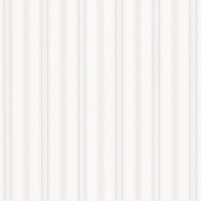 Basil Stripe - Pastel Pink