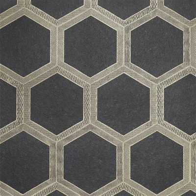 Designers Guild Zardozi Stof - Charcoal