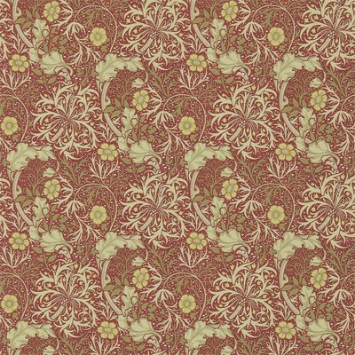 Morris Seaweed Behang - Red / Gold