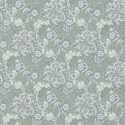 Morris Seaweed Behang - Silver / Ecru
