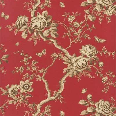 Ralph Lauren Ashfield Floral Behang 'Balmoral Red'