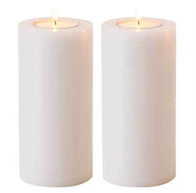 Waxinelicht Houder Witte Kaars 21 cm