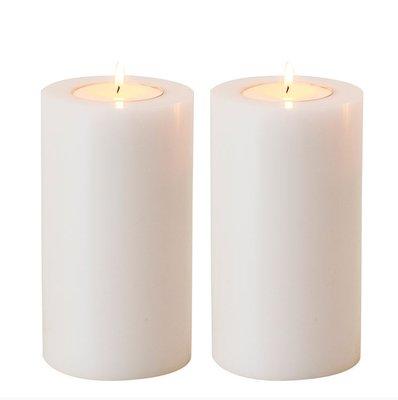 Waxinelichthouder Witte Kaars 18 cm