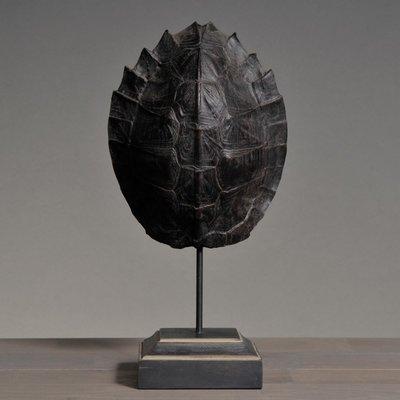 Schildpadschild 28 cm Zwart