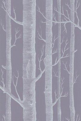 Behang Woods met Bomen