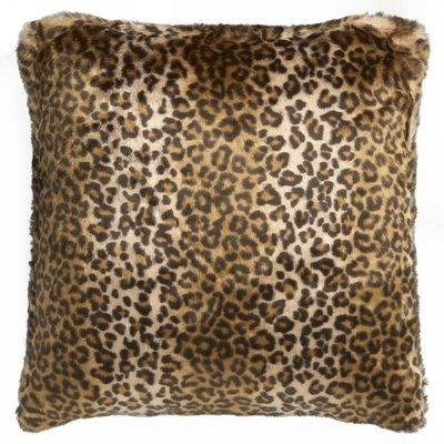 Set van 2 Faux Fur Kussen Leopard