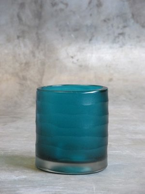 Waxinelichthouder Glas Aqua
