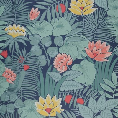 Little Greene Reverie behang - Nile