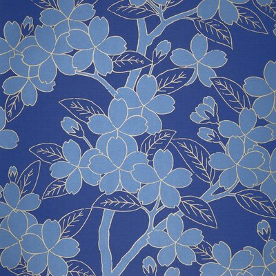 Little Greene Camellia Behang - Smalt