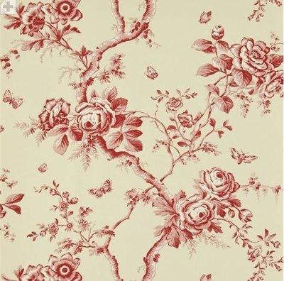 Ashfield Floral 'Vermilion'
